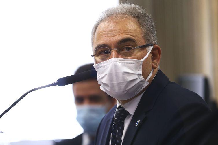 O ministro da Saúde, Marcelo Queiroga, é ouvido novamente durante sessão da CPI da Pandemia, no Senado