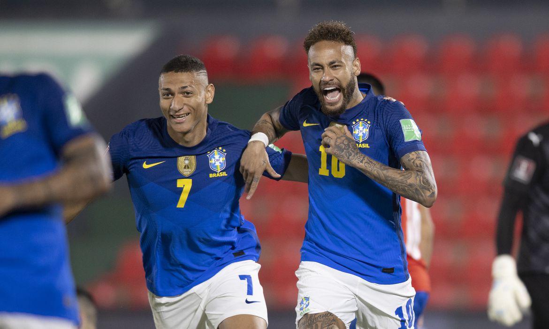 O Brasil foi a 18 pontos em seis partidas, na ponta das eliminatórias