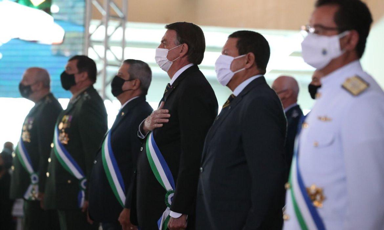 Presidente participava de cerimônia do Ministério da Defesa