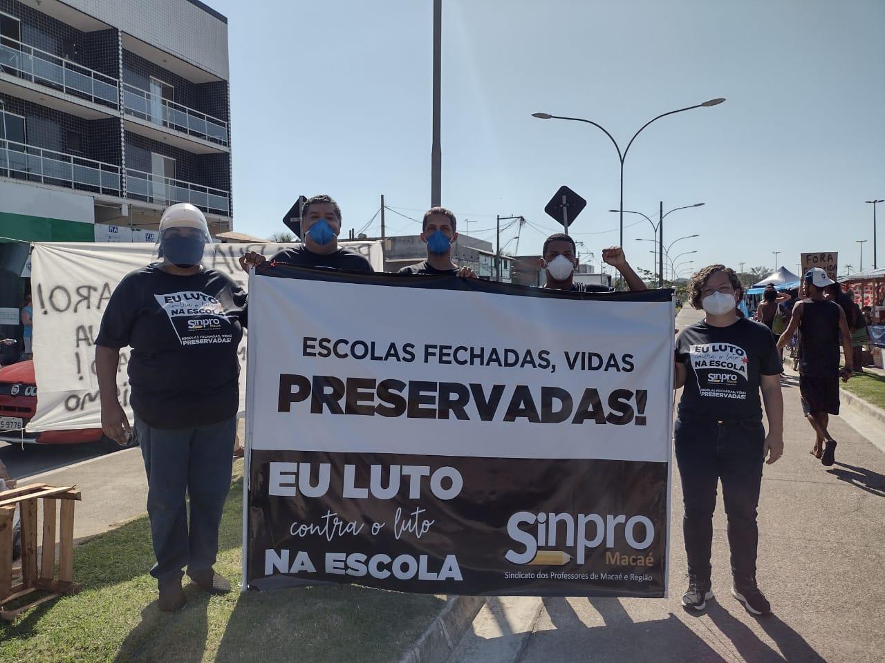 Mais um ato simbólico foi realizado, mas desta vez, em Rio das Ostras