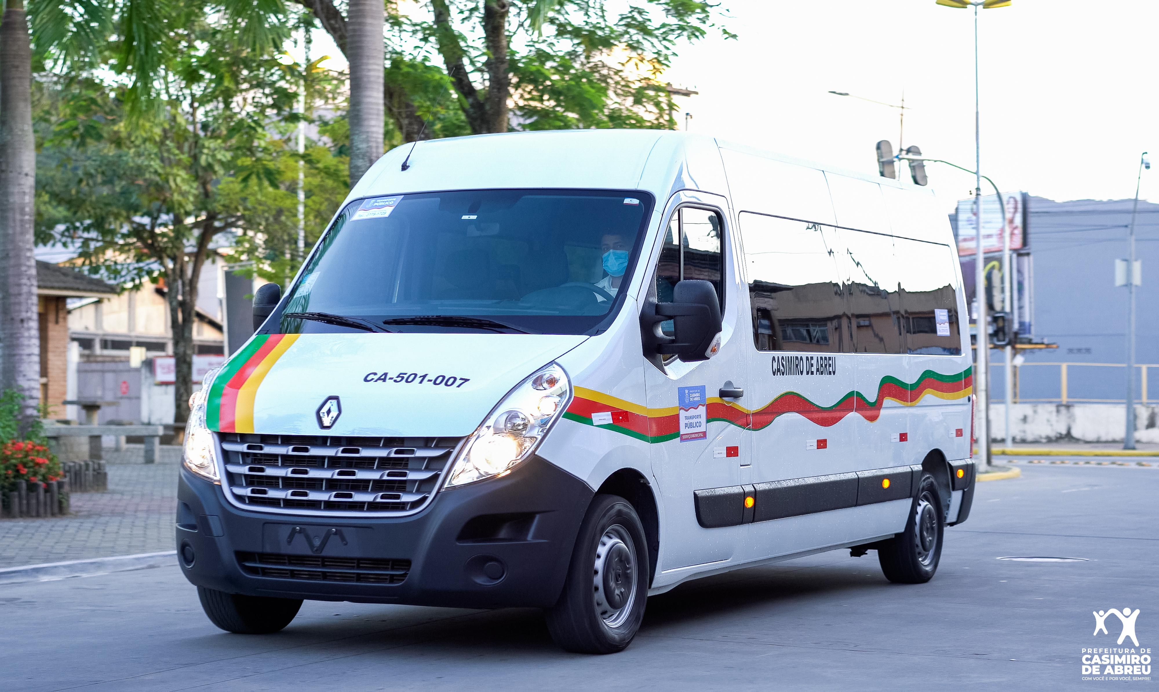 As vans estão adesivadas e serão vistoriadas pela Secretaria de Ordem Pública e Defesa Civil de Casimiro de Abreu