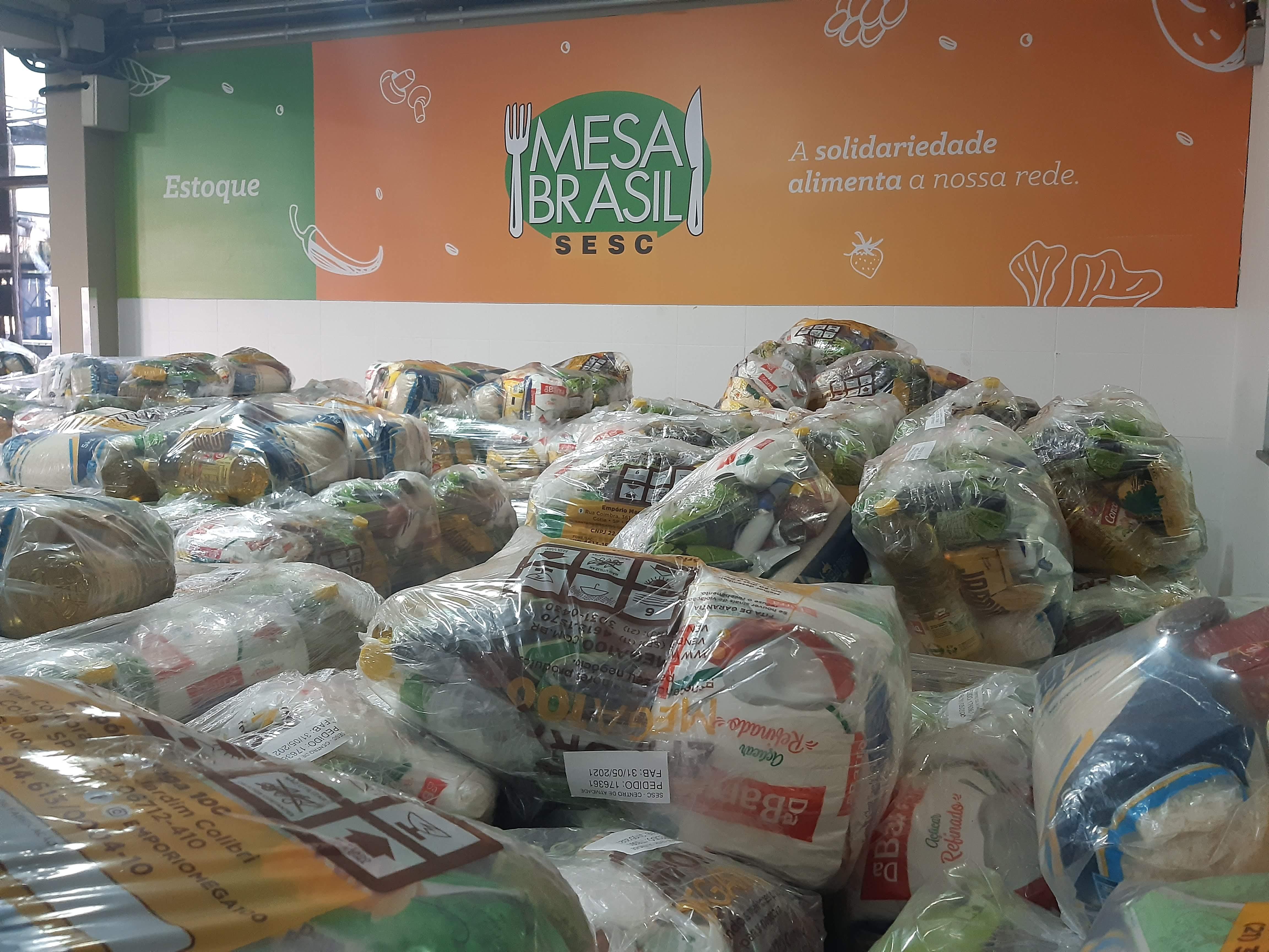 Ao todo, cinco mil cestas básicas foram entregues a famílias em situação de vulnerabilidade social