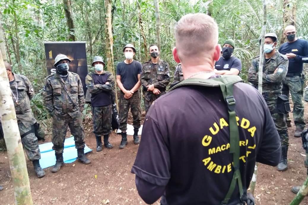 O objetivo foi preparar os guardas para missões em áreas de matas onde acontece a maioria das atividades
