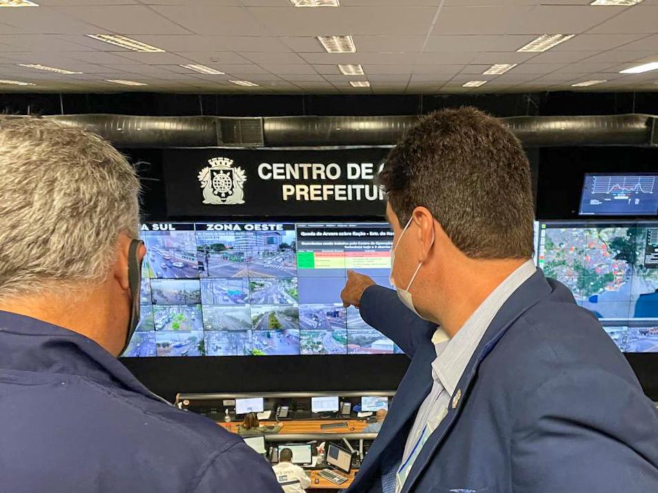 O prédio do Centro de Operações da Prefeitura do Rio funciona como quartel-general de integração