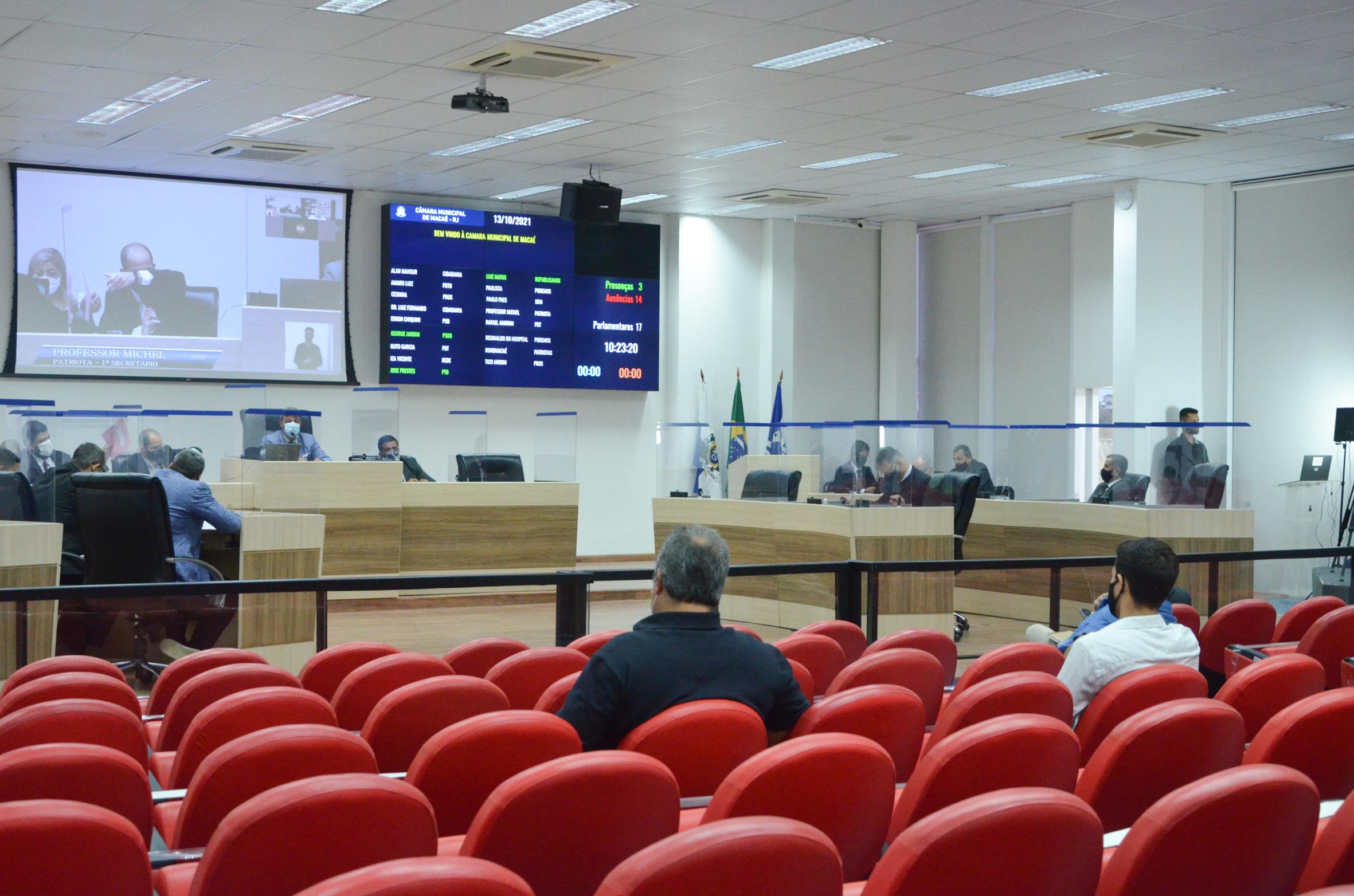 A sessão foi realizada nessa quarta-feira (13)